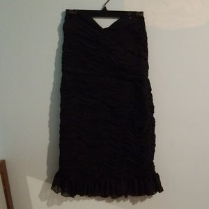 Suzy Shier rouched dress